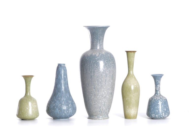 Set of Ten Vases by Gunnar Nylund for Rörstrand, Sweden In Excellent Condition For Sale In Karlstad, SE