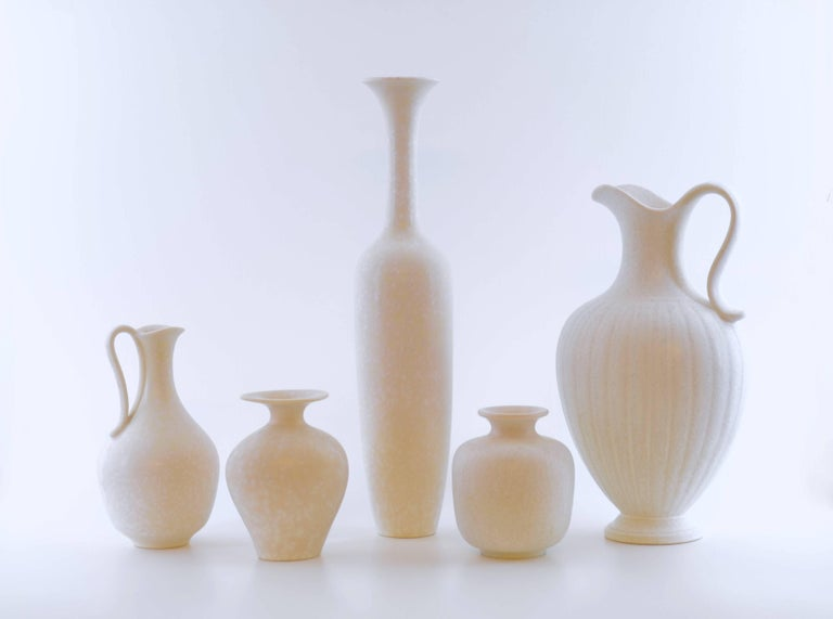 20th Century Set of Ten Vases by Gunnar Nylund for Rörstrand, Sweden For Sale