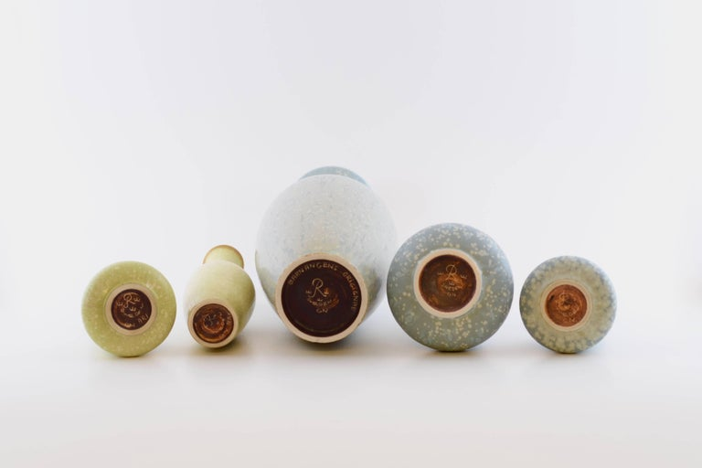 Set of Ten Vases by Gunnar Nylund for Rörstrand, Sweden For Sale 1