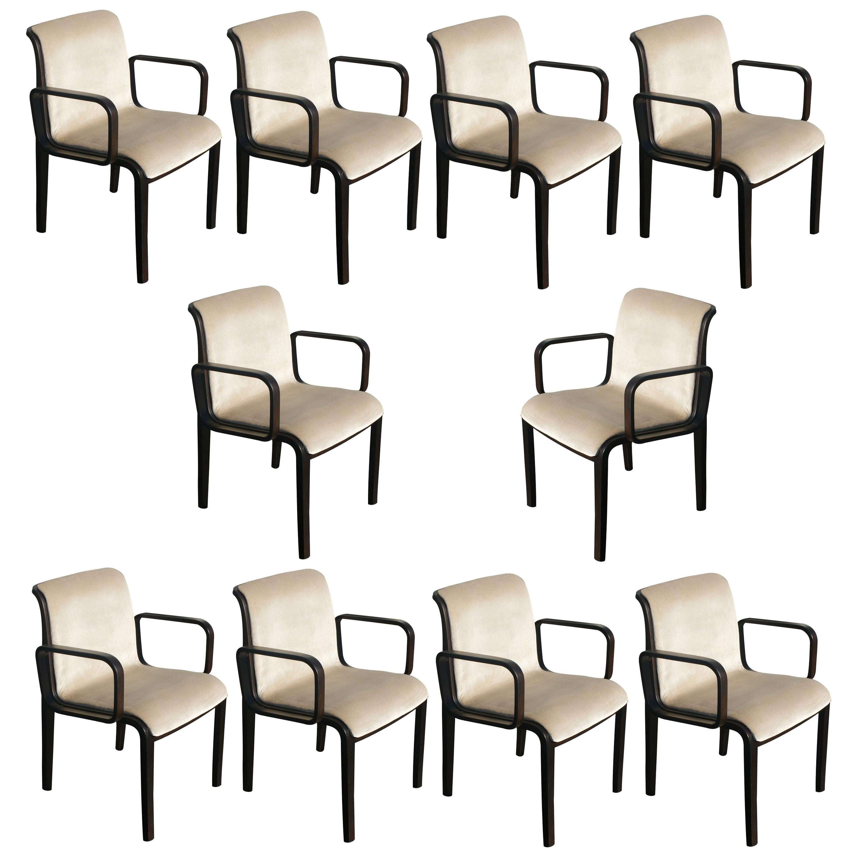 Set of Ten Vintage Armchairs by Bill Stephens for Knoll