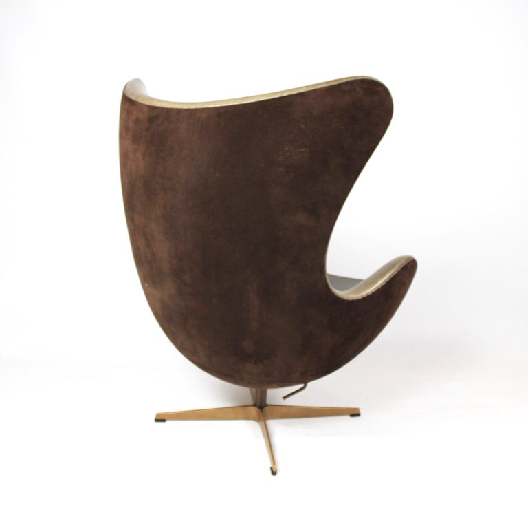Bronze Set of the Egg, Model 3316, and Matching Stool Designed by Arne Jacobsen 2008 For Sale