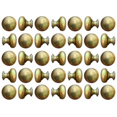 Set of Thirty Five Bronze Knobs