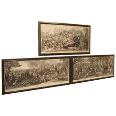 Set of Three 18th Century Engravings The Battles of Alexander the Great
