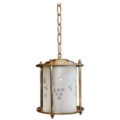 Set of Three 1920s Brass Plated Lanterns
