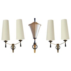 Set of Three 1950s Sconces by Maison Arlus