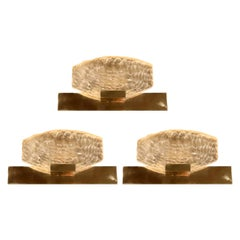Set of Three 1950s Sconces in Dallux in the Early Style of Serge Mouille