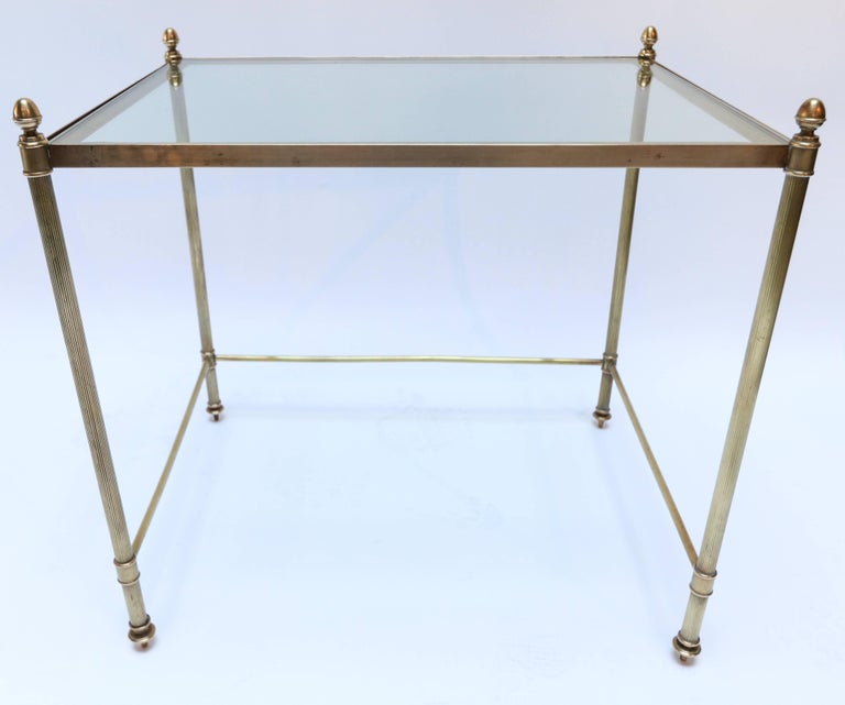 Mid-20th Century Set of Three 1960s Italian Brass Nesting Tables For Sale