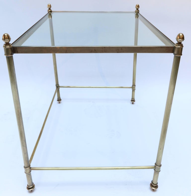 Set of Three 1960s Italian Brass Nesting Tables For Sale 1