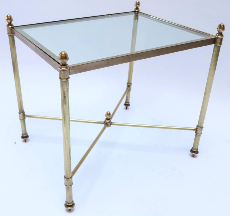 Set of Three 1960s Italian Brass Nesting Tables For Sale 2