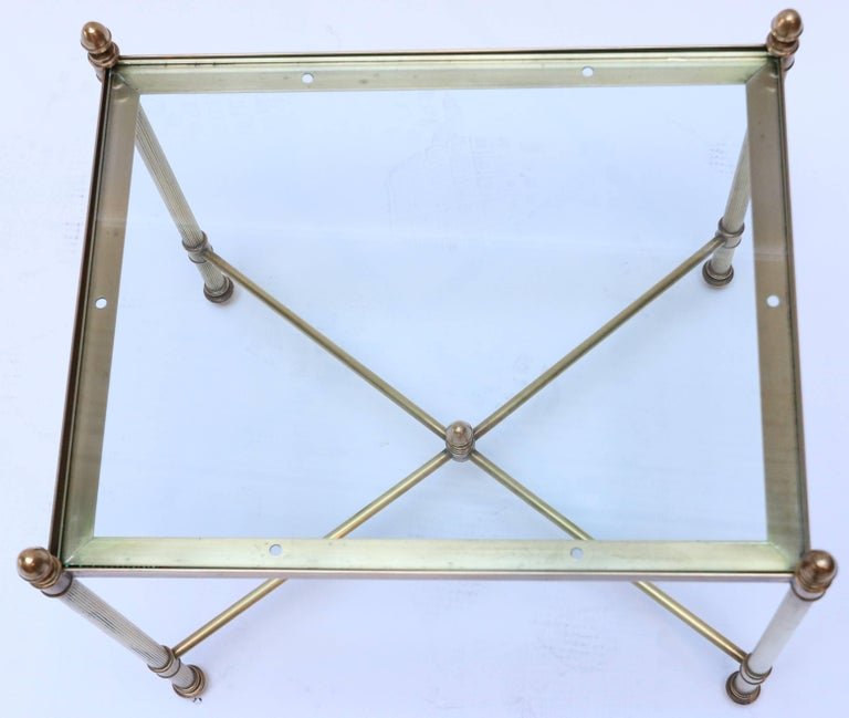 Set of Three 1960s Italian Brass Nesting Tables For Sale 4