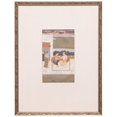 Set of Three 19th Century Mughal Miniature Paintings