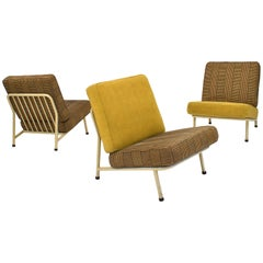 Set of Three Alf Svensson Lounge Chairs for DUX, Sweden, circa 1950