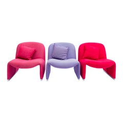 Set of Three 'Alky Chairs' by Giancarlo Piretti for Castelli, Italy, 1970s