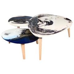 Set of Three Amorfi Smoking Tables
