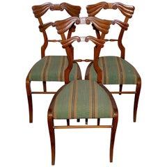 Set of Three Antique Empire Side Chairs, 19th Century, Biedermeier