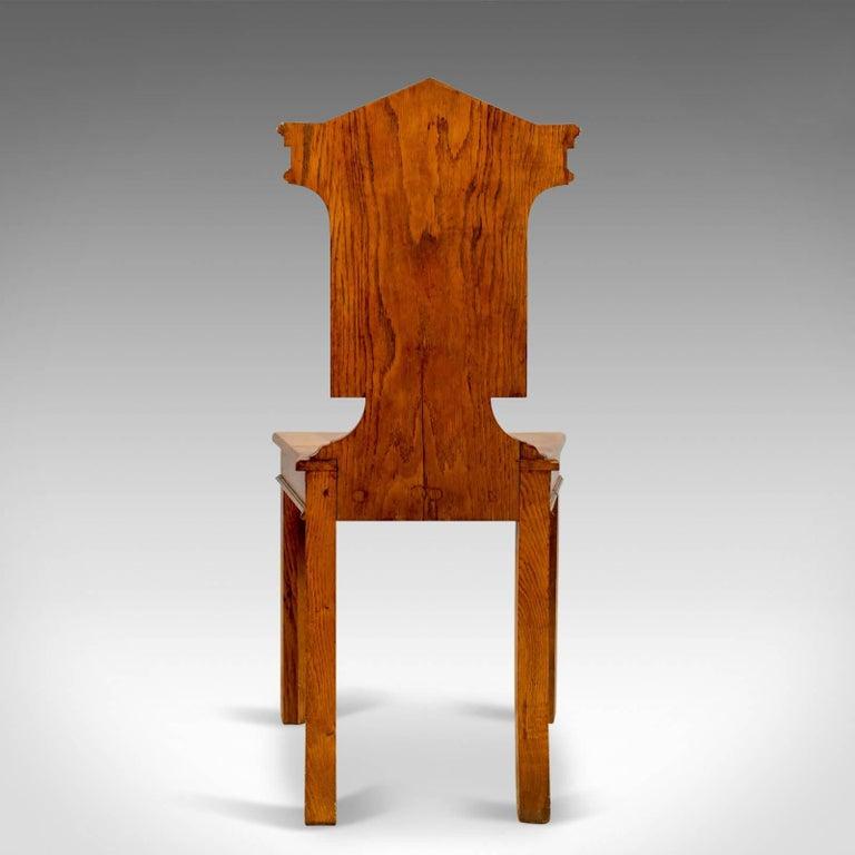 Set of Three Antique Hall Chairs, Oak, Scottish, Stag, Regency, circa 1820 1
