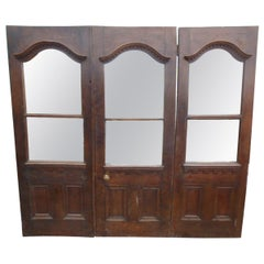 Set of Three Antique Mirrored Doors, 20th Century