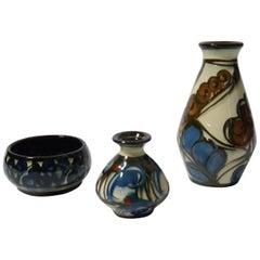 Set of Three Art Deco Ceramic Vessels by Danico, Denmark, 1920s