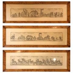 Set of Three Asian Motif English Engravings