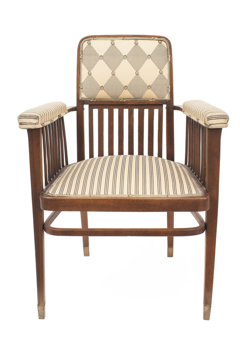 Vienna Secession Set of Three Austrian Bentwood 'Secessionist' Chair Set For Sale