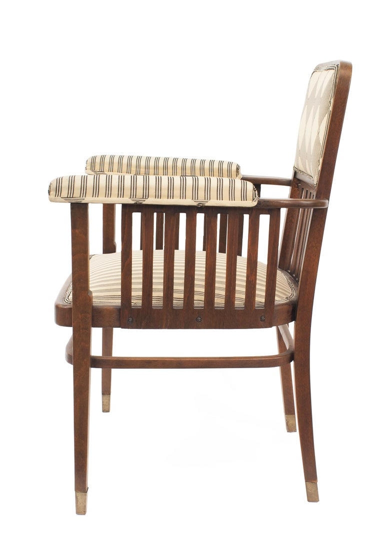 20th Century Set of Three Austrian Bentwood 'Secessionist' Chair Set For Sale
