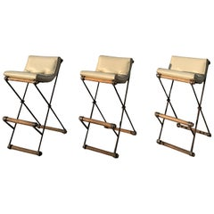 Set of Three Bar Stools by Cleo Baldon for Terra