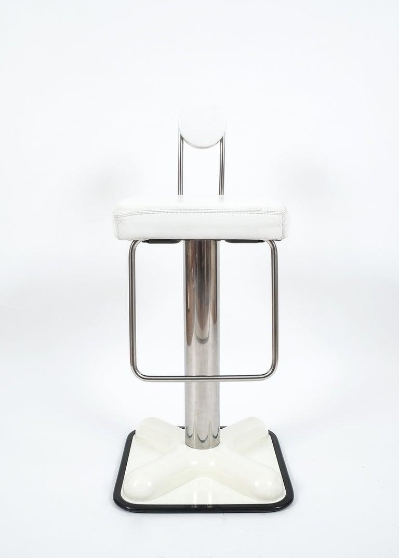 Space Age Set of Three Bar Stools by Joe Colombo 'Birillo' for Zanotta