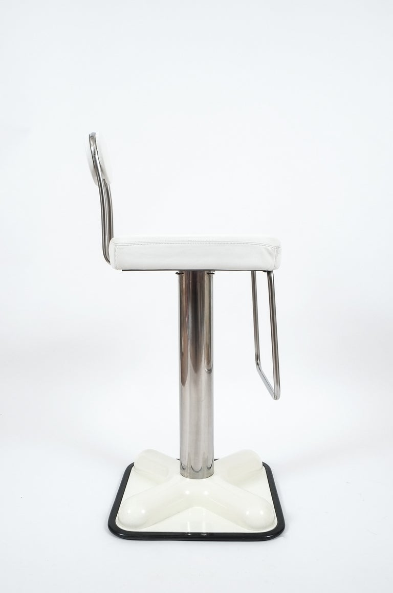 Set of Three Bar Stools by Joe Colombo 'Birillo' for Zanotta In Good Condition In Vienna, AT