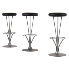 Set of Three Bar Stools by Piet Hein for Fritz Hansen, Denmark, 1960s