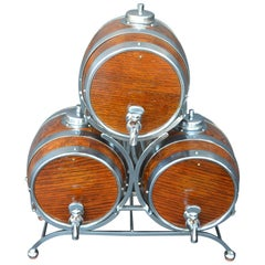 Set of Three Barrel Drink Dispensers by Nelcraft Nottingham
