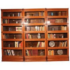 Set of Three Bookcases Said Stacking Bookcase in Light Oak, circa 1900