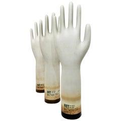 Set of Three Ceramic Glove Molds, 2008