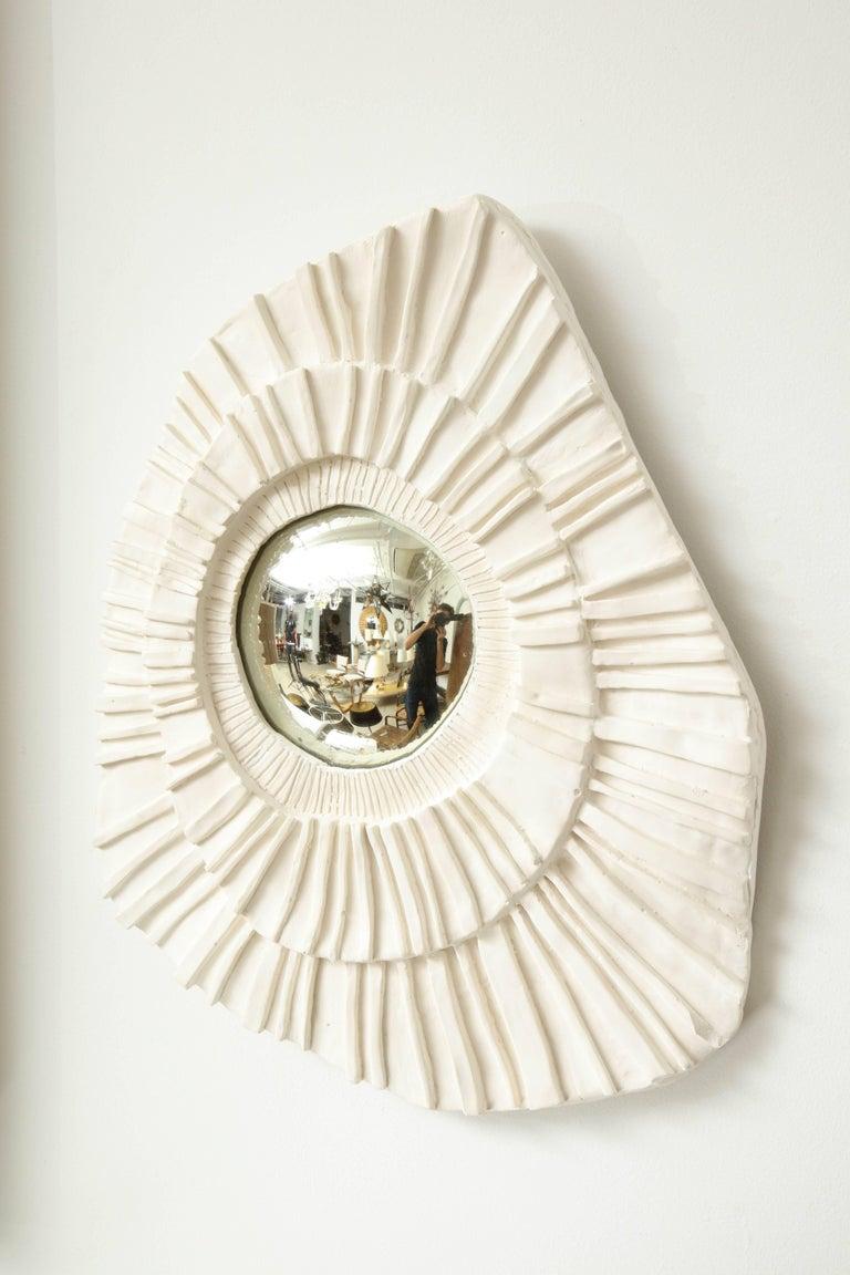 Set of Three Ceramic Mirrors For Sale 5