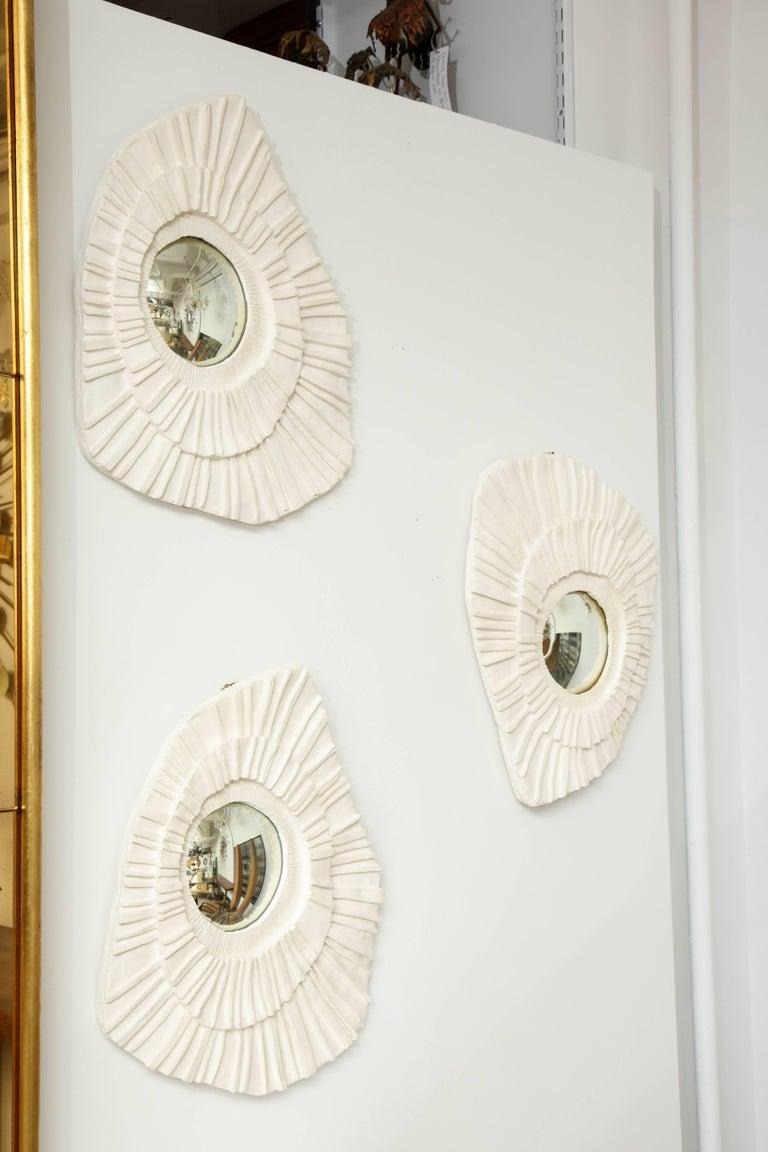 Set of three ceramic mirrors, Artist Vincent V.