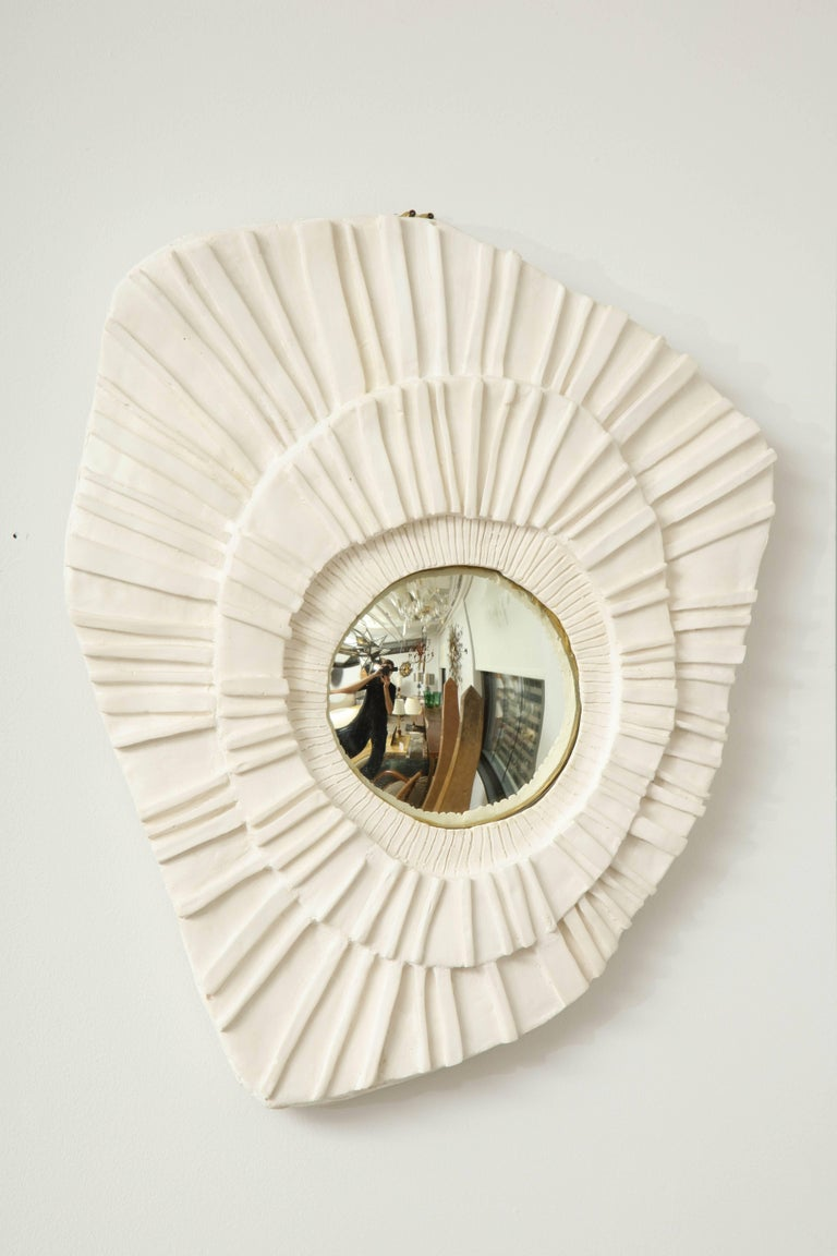 Set of Three Ceramic Mirrors In Excellent Condition For Sale In Mt Kisco, NY