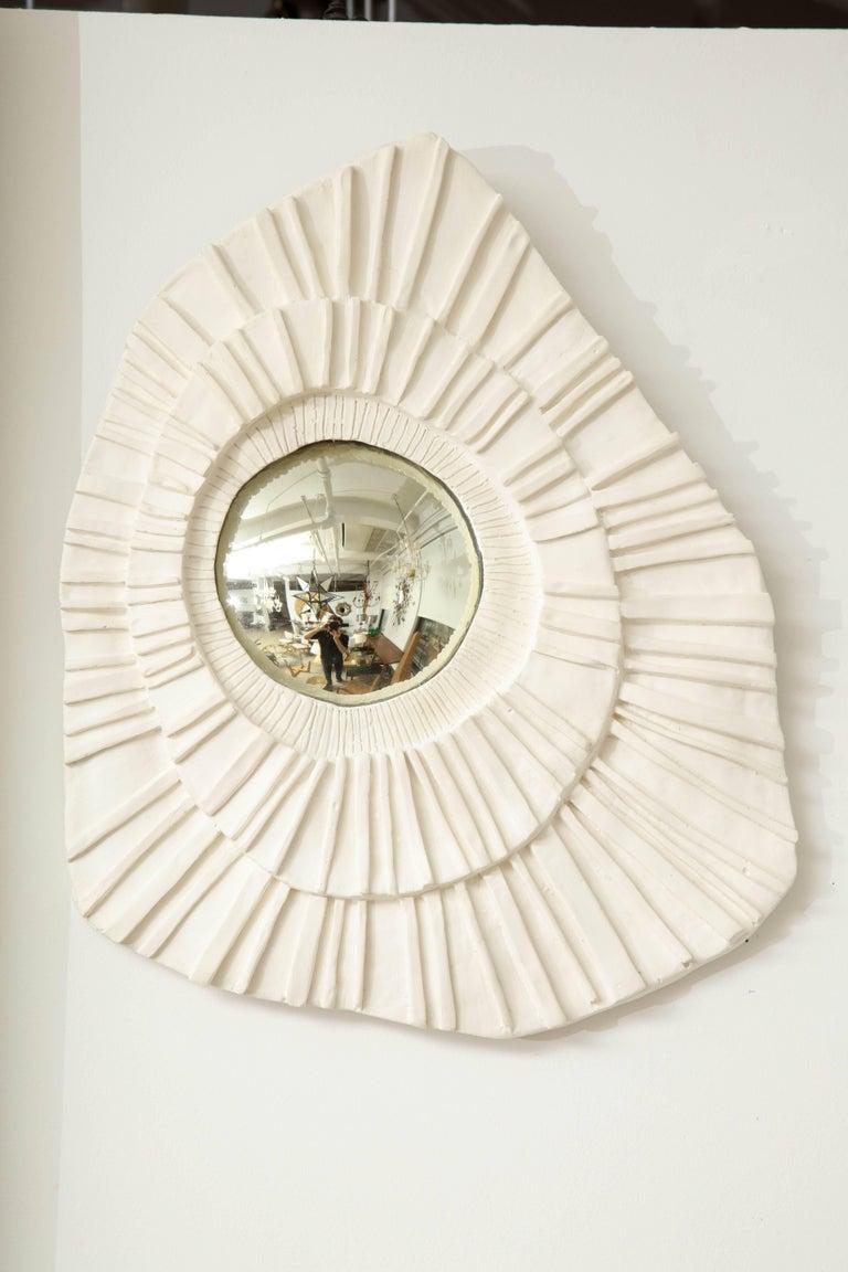 Contemporary Set of Three Ceramic Mirrors For Sale