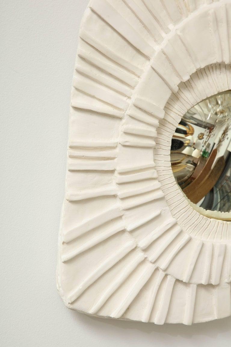 Set of Three Ceramic Mirrors For Sale 2