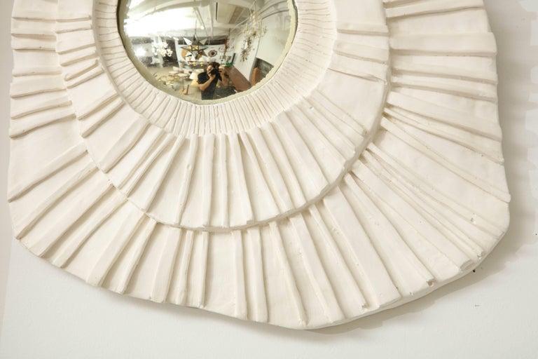 Set of Three Ceramic Mirrors For Sale 3