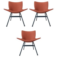 Set of Three Chairs Lupina Designed by Niko Kralj, 1970s