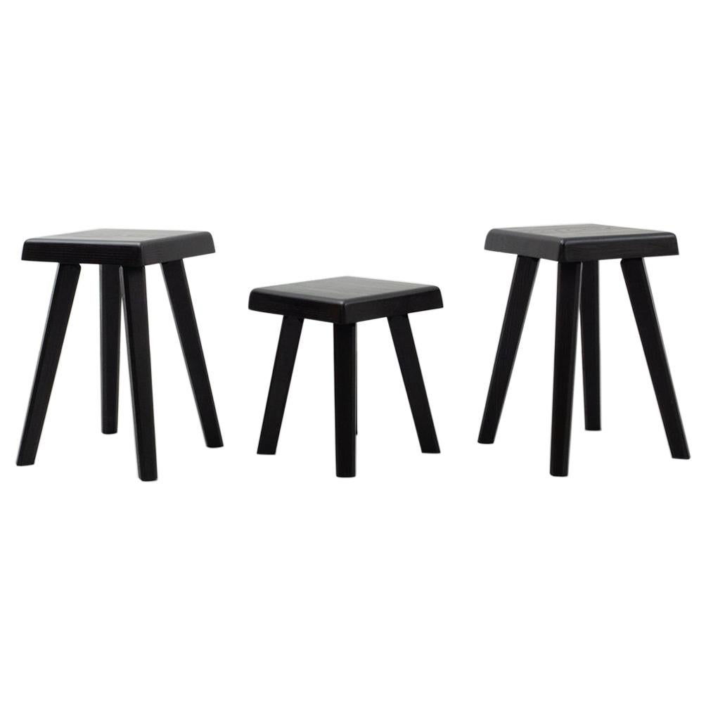 Set of Three Chapo Stools Special Black Edition