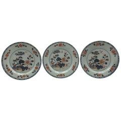 Set of Three Chinese Imari Dishes, 18th Century