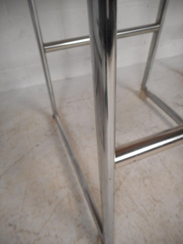 Set of Three Chrome and Vinyl Bar Stools For Sale 2