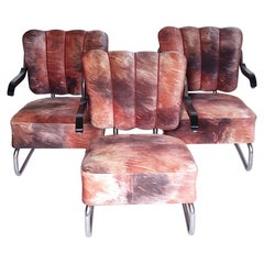 Set of Three Chrome Armchairs/ Mucke Melder, 1930s