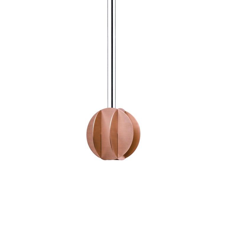 Ukrainian Set of Three Contemporary Pendant Lamp EL Lamps CS2 by NOOM in Copper For Sale