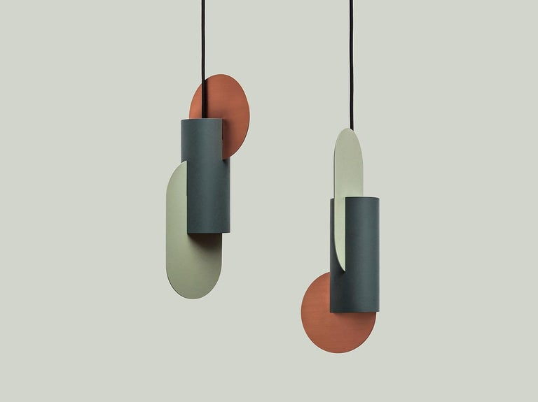 Suprematic lighting collection inspired by the geometric works of the great Suprematist Kazimir Malevich. Suprematism is a modernist movement in the art of the early 20th century, focused on the basic geometric forms, such as circles, squares,