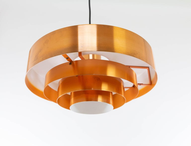 Set of Three Copper Pendants by Jo Hammerborg for Fog & Mørup, 1960s For Sale 5