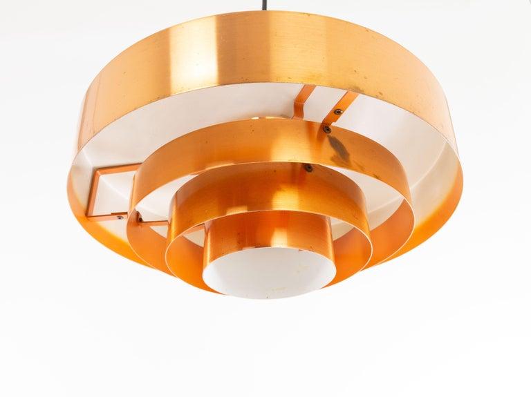 Set of Three Copper Pendants by Jo Hammerborg for Fog & Mørup, 1960s For Sale 6