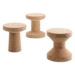 Set of Three Cork Family Stools Designed by Jasper Morrison