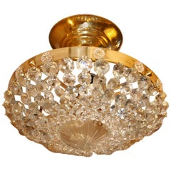 Set of Three Crystal Light Fixtures