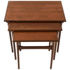 Set of Three Danish Midcentury Teak Nesting Tables